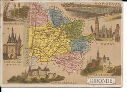 CPA  Carte Géographique Département De La Gironde 13248 - Carte Geografiche