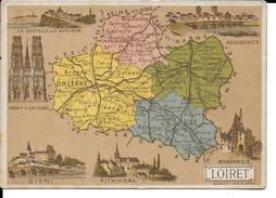 CPA  Carte Géographique Département Du Loiret 13254 - Carte Geografiche