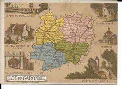CPA  Carte Géographique Département Du Lot Et Garonne 13255 - Carte Geografiche