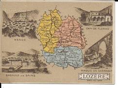 CPA  Carte Géographique Département De La Lozère 13256 - Carte Geografiche