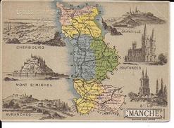 CPA  Carte Géographique Département De La Manche 13257 - Carte Geografiche