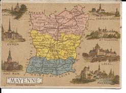 CPA  Carte Géographique Département De La Mayenne 13259 - Carte Geografiche