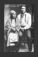 INDIENS AMÉRIQUE DE NORD - COUPLE INDIEN MARGARET MOTH ET CHARLIE MOSES 1890 - Indiens De L'Amerique Du Nord