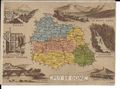 CPA  Carte Géographique Département Du Puy De Dôme 13260 - Carte Geografiche