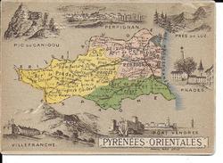 CPA  Carte Géographique Département Des Pyrénées Orientales 13261 - Carte Geografiche