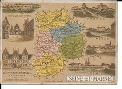 CPA  Carte Géographique Département De La Seine Et Marne 13264 - Carte Geografiche