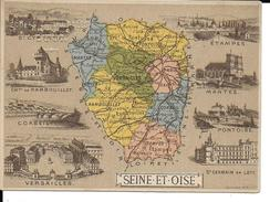 CPA  Carte Géographique Département De La Seine Et Oise 13265 - Carte Geografiche