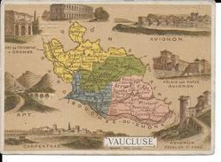 CPA  Carte Géographique Département Du Vaucluse 13268 - Carte Geografiche