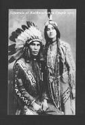 INDIENS AMÉRIQUE DE NORD - COUPLE INDIEN 1912 SITUWULA ET KATKWACHSNEA - Indiens De L'Amerique Du Nord