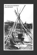 INDIENS AMÉRIQUE DE NORD - 1947 INDIENNE INNUS AMÉRINDIENNE À LA CUISSON DE LA NOURITURES - Indiens De L'Amerique Du Nord