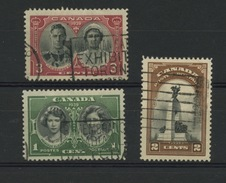 CANADA - VISITE PRINCIÈRE - N° Yvert 202/204 Obli - 1937-1952 Reign Of George VI