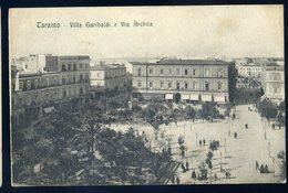 Cpa Italie Taranto -- Villa Garibaldi E Via Archita   GX11 - Taranto