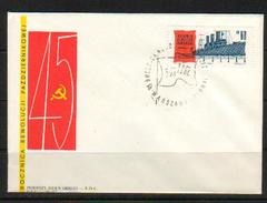 POLAND FDC 1962 45TH ANNIVERSARY OF THE RUSSIAN OCTOBER REVOLUTION RUSSIA COMMUNISM SHIP USSR FLAG - Schiffe
