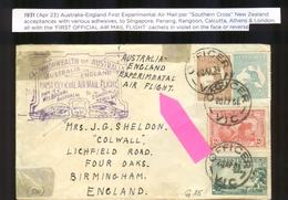 1931.5 APRIL.  AUSTRALIA.   VOL ESSAI  / FFC.OUVERTURE LIGNE MELBOURNE LONDON SEE PICTURES - Briefe U. Dokumente