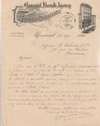 Lettre Illustrée 24/5/1890 C Alfred CHOUILLOU Import Export MONTREAL Canada - Canada