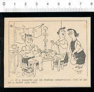 2 Scans Humour Fer à Repasser Rouleau Compresseur Repassage Blanchisserie / Evasion Gardien De Prison / 198-PF-16 - Non Classés
