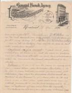 Lettre Illustrée 2 - 25/5/1890 C Alfred CHOUILLOU Import Export MONTREAL Canada  Avec Croquis Cadre Vin Lalande Bordeaux - Canada