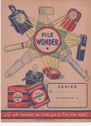 Protège-cahier Pile WONDER - Electricité & Gaz