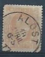 BELGIQUE : YT (o)  N° 33 - 1869-1883 Léopold II