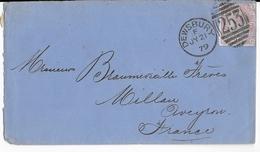 GB - 1879 - YVERT N° 56 PLANCHE 15 Sur ENVELOPPE De DEWSBURY => MILLAU (AVEYRON) - COTE Du TIMBRE = 45 EURO - Marcofilie