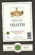 ITALIA - Etichetta Vino VELLETRI Doc Cantina PRODUTTORI VELLETRI Bianco Del LAZIO - White Wines