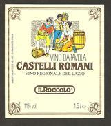 ITALIA - Etichetta Vino CASTELLI ROMANI Cantina IL ROCCOLO Bianco Del LAZIO - Witte Wijn