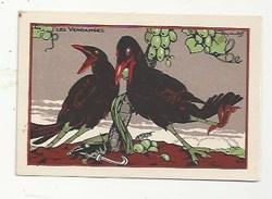 CHROMO - ANIMAUX HUMANISÉS - ILLUSTRATEUR : RAY LAMBERT - LES VENDANGES - PUBLICITÉ FARINE LACTÉE  SALVY - CORBEAUX - Trade Cards