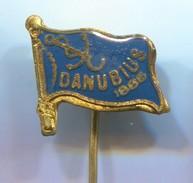 Rowing, Rudern, Canu, Kayak - Club DANUBIUS, Novi Sad Serbia, Vintage Pin, Badge, Abzeichen - Rowing
