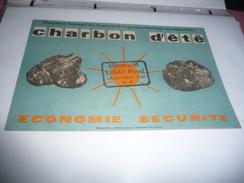 BUVARD Publicitaire  Fédération Des Syndicats De Négociants En Combustibles. Charbon D´été, économie Sécurité. - Electricité & Gaz