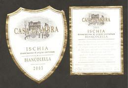 ITALIA - Etichetta Vino ISCHIA Doc 2003 Cantina D'AMBRA VINI D'ISCHIA Bianco Della CAMPANIA - Witte Wijn