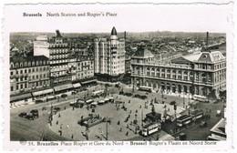 Brussel, Bruxelles, Place Rogier Et Gare Du Nord (pk32725) - Places, Squares