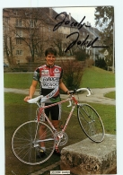 Jocelyn JOLIDON, Autographe Manuscrit .Cyclisme. 2 Scans. Eurocar Mosoca . Format 13 X 19.5 Cm - Cyclisme
