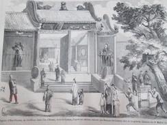 Gravure 1858  PAGODE   D Hae-chwang  Jos-house   ILE D HONAN  Canton Chine China     Sunqua - Old Paper