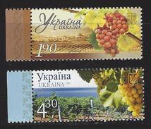 Ukraïne Zegels Druiven En Wijnbouw - Timbres
