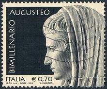 Italie - 2000e Anniversaire De La Mort D'Auguste, Premier Empereur Romain 3482 (année 2014) Oblit. - 6. 1946-.. Republic
