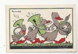 CHROMO - ANIMAUX HUMANISÉS - ILLUSTRATEUR : RAY LAMBERT - LA MUSIQUE - PUBLICITÉ FARINE LACTÉE  SALVY -  CANARDS...!! - Trade Cards