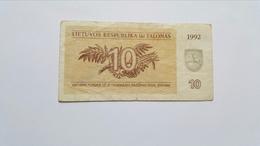 LITUANIA 10 TALONAS 1992 - Lituanie