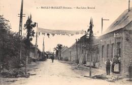 80 - SOMME / Mailly Maillet - Rue Léon Breuval - Beau Cliché Animé - Otros Municipios