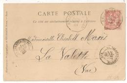 Convoyeur BRIANCON A GAP Pour LA VALETTE Var. 1903 - Railway Post