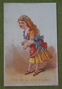 """C'est Moi Qui Suis Mignonne - Machine à Coudre """"La Mignonne"""", Dos Illustré, Vers 1878 - Chromos"""