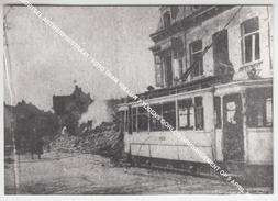 MORTSEL ANTWERPSESTRAAT / FOTO TRAM 408 LIJN 7 TIJDENS OORLOG BOMBARDEMENT OP 5 APRIL 1943 - Mortsel