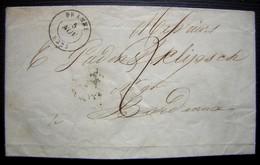1845 Lettre De Branne Pour Bordeaux - Poststempel (Briefe)
