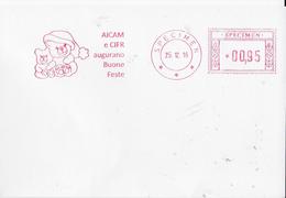SPECIMEN 25.12.2016 AICAM E CIFR - Affrancature Meccaniche Rosse (EMA)