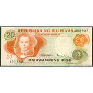 TWN - PHILIPPINES 150a - 20 Piso 1971 Prefix AB UNC - Filipinas