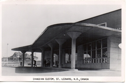 ST. LEONARD, New Brunswick, Canada, Canadian Custom Building And Railroad Station, Old RPPC