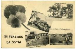 Q.866.  Un Pensiero Da OSTIA - 1912 - Other Cities