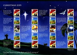 GREAT BRITAIN - 2015  CHRISTMAS  GENERIC SMILERS SHEET   PERFECT CONDITION - Fogli Completi