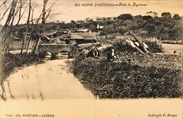 PORTUGAL. RIO MAIOR. PONTE DO JOGADOURO. Nº 774. ED. MARTINS. LISBOA. COLLECAO F. BRAGA. REVERSO IMPRESO VERTICALMENTE - Portugal