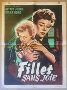 """Affiche Cinéma Originale Du Film FILLES SANS JOIE 1954 """"THE WEAK AND THE WICKED"""" De J. LEE THOMSON Avec  GLYNIS JOHNS - Posters"""
