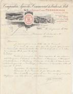 Lettre Illustrée 25/1/1913 Antiga Casa FERREIRINHA Vinhos PORTO Portugal - Vins - De Bruxelles Belgique - Portugal
